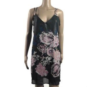 Xhilaration Slip Dress Gray Sparkle Floral Nwt